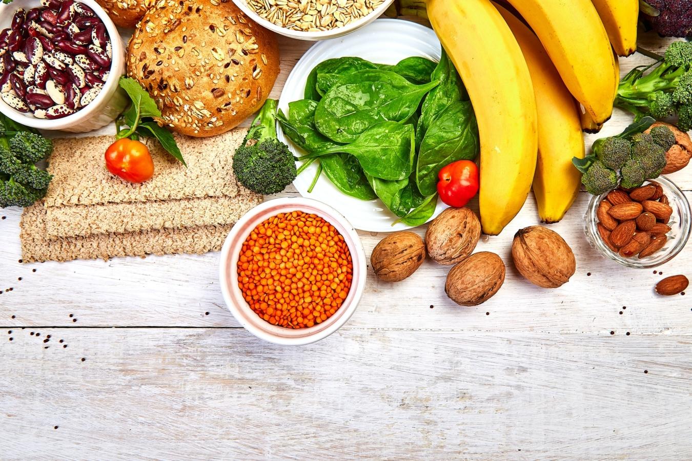 Konzept für gesunde Lebensmittel mit hohem Ballaststoffgehalt